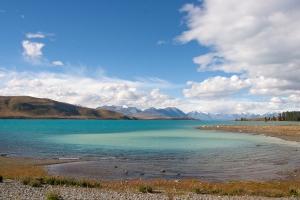 Tekapo ežeras. Pirmoji vieta, kuri privertė išssižioti.