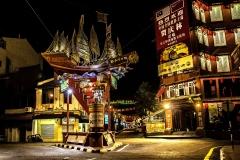Turistinis Chinatown rajonas  Melakos mieste.