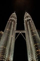Petronas bokštai arba bokštai dvyniai. Kuala Lumpūras.